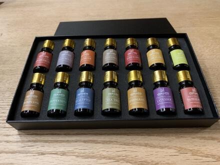 Auswahl von ätherischem Öl